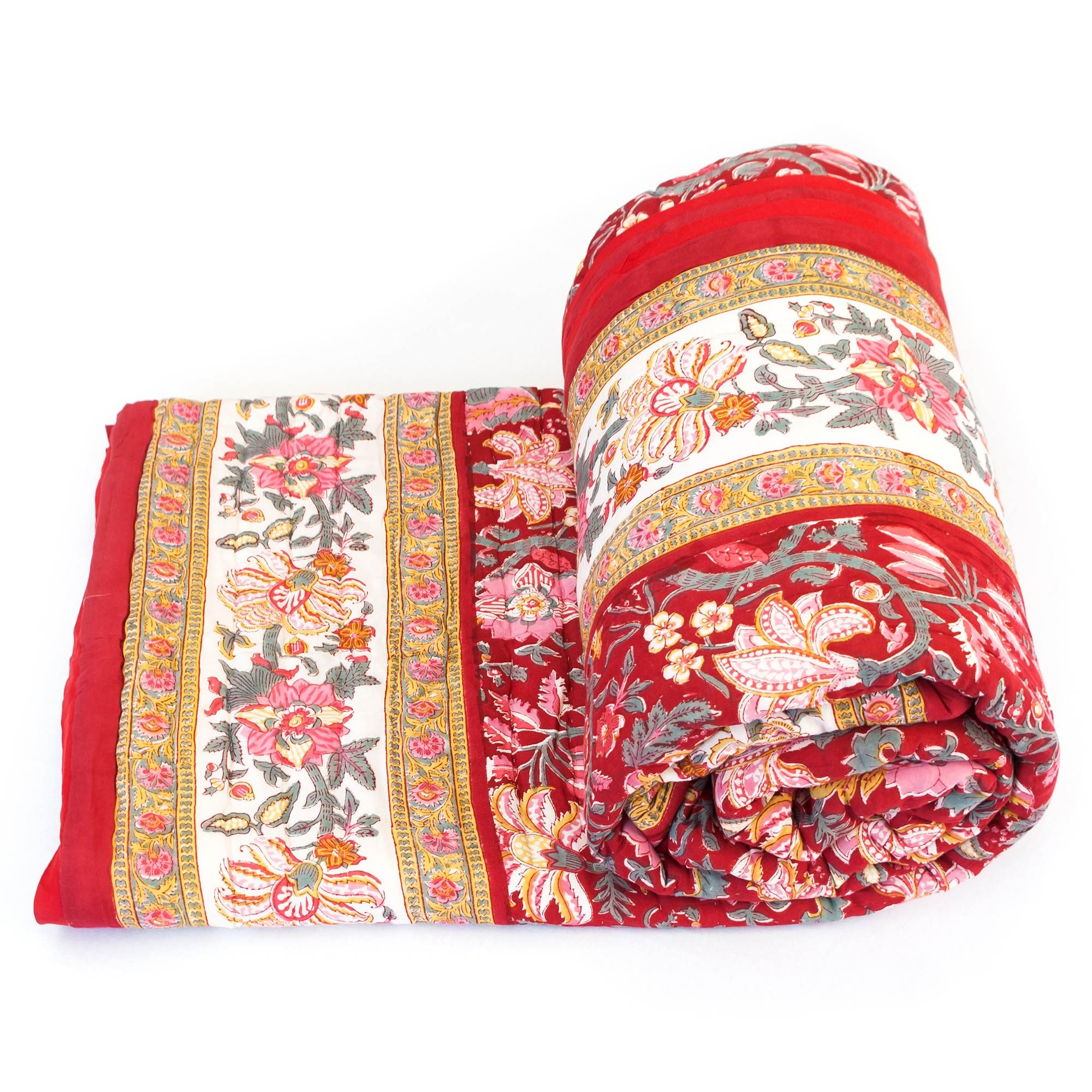 Tara-Textile - indische Decke - Kuscheldecke Manika
