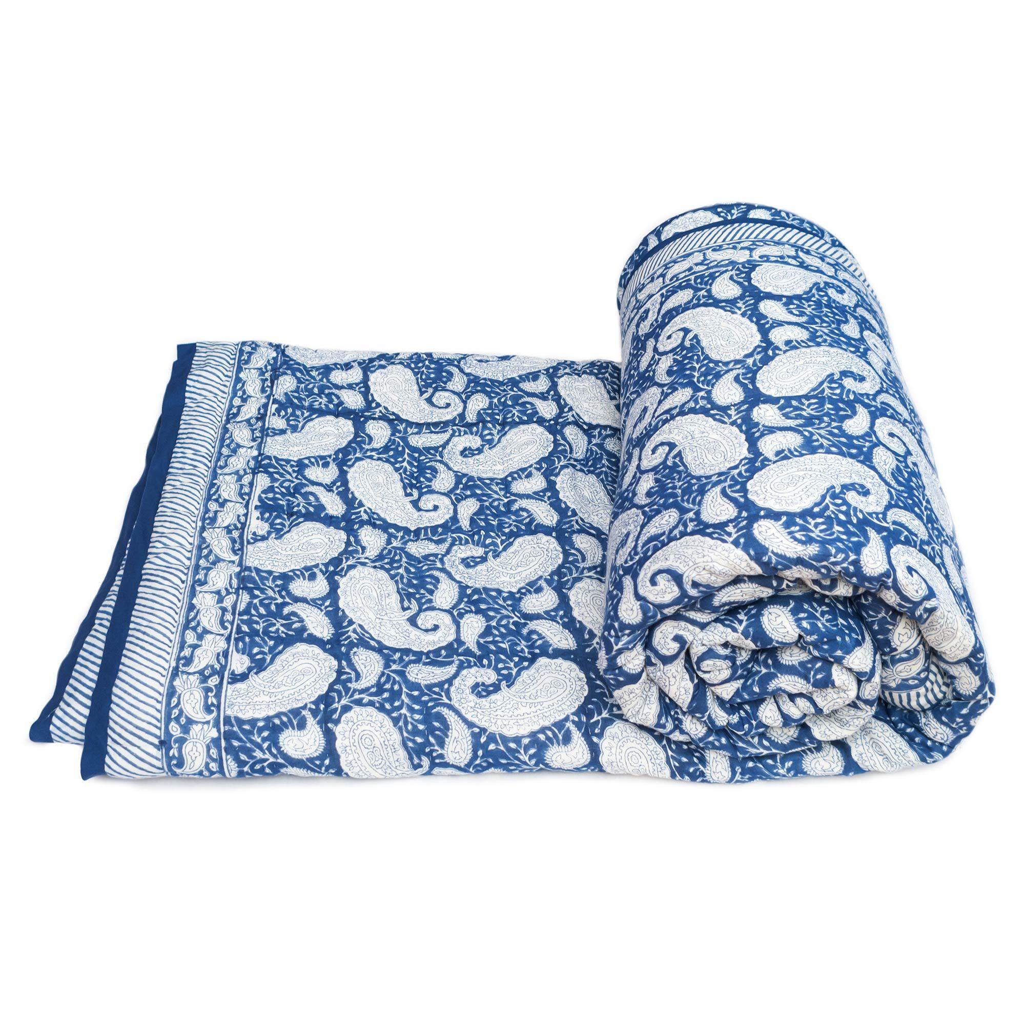 Tara-Textile - indische Decke - Kuscheldecke Neela