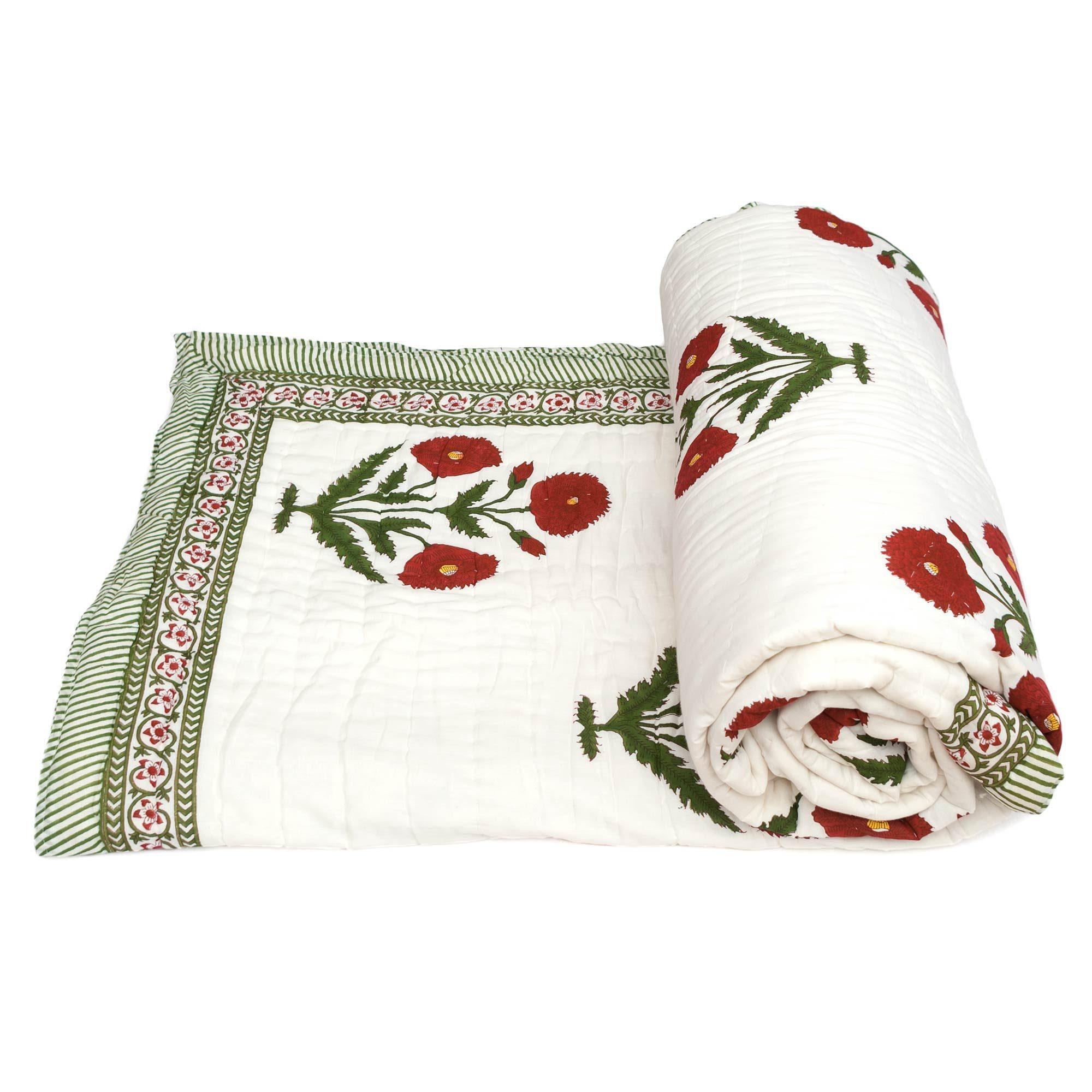 Tara-Textile - indische Decke - Leichte Decke Sarisha
