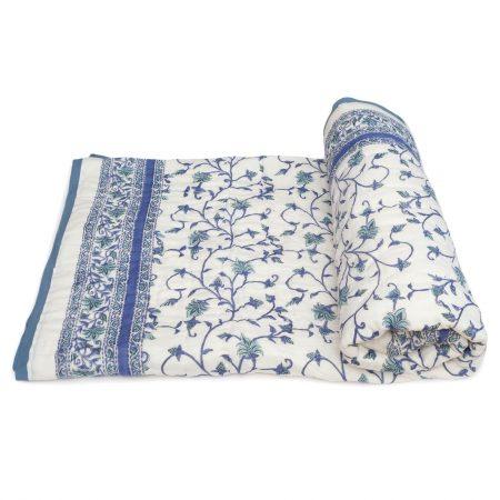 Tara-Textile - indische Decke - Kuscheldecke Kajal