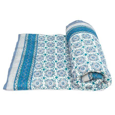 Tara-Textile - indische Decke - Kuscheldecke Mani