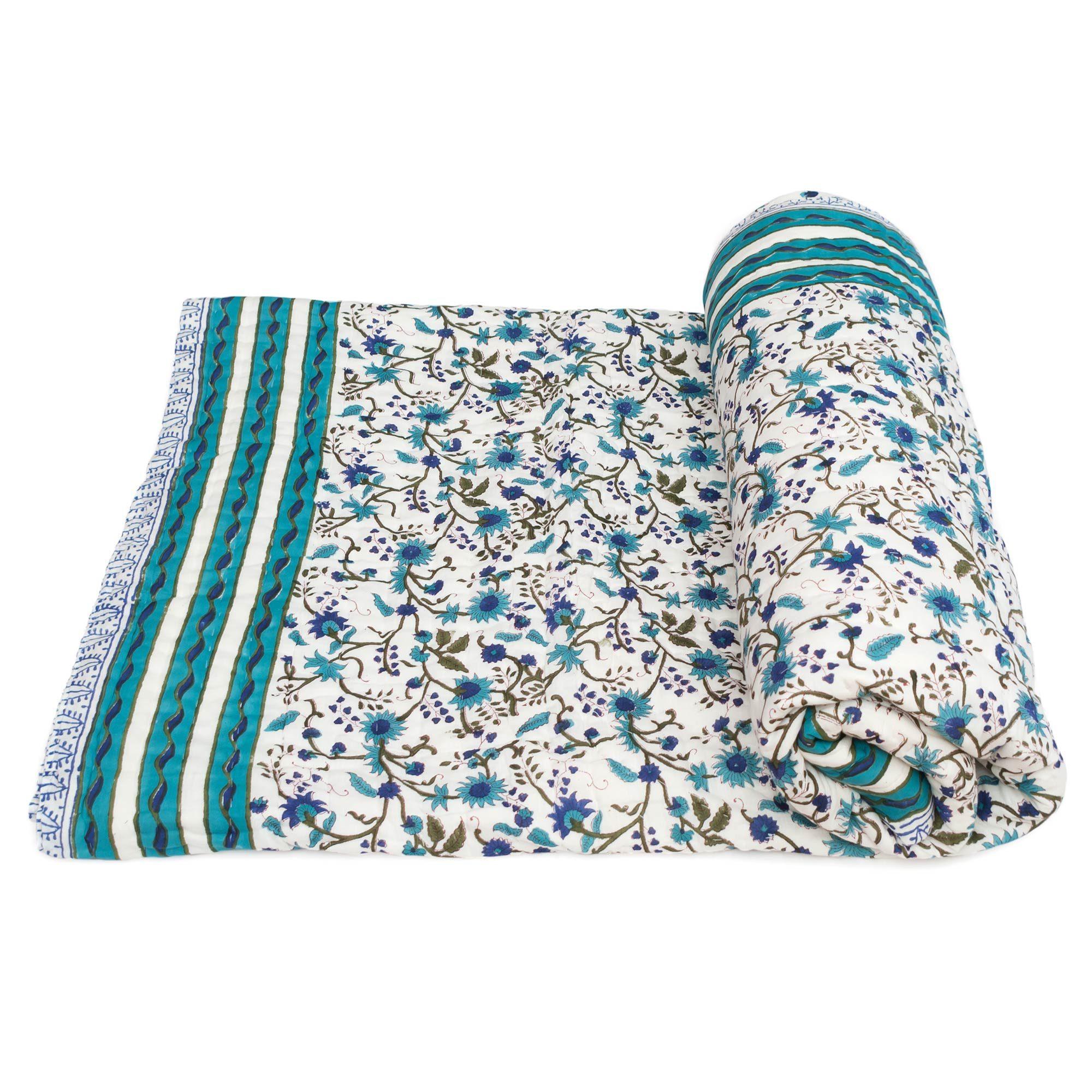 Tara-Textile - indische Decke - Leichte Decke Dhara