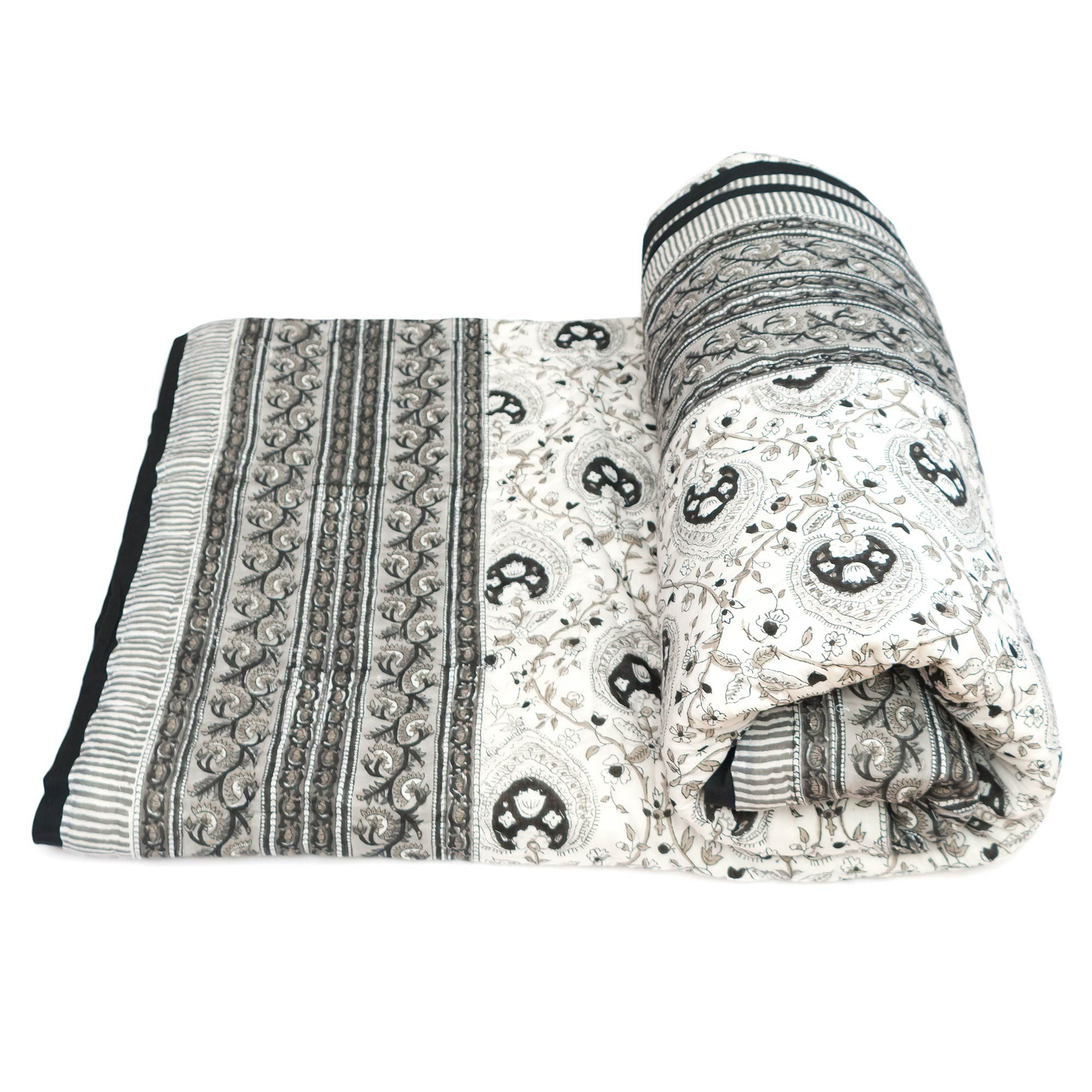 Tara-Textile - indische Decke - Kuscheldecke Vanita