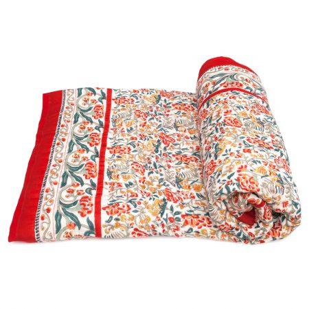 Tara-Textile - indische Decke - Kuscheldecke Santari