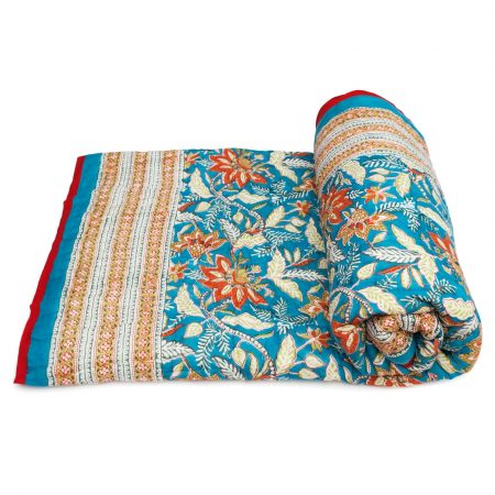 Tara-Textile - indische Decke - Kuscheldecke Gayantri