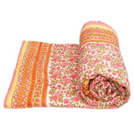 Tara-Textile - indische Decke - Kuscheldecke Rojana