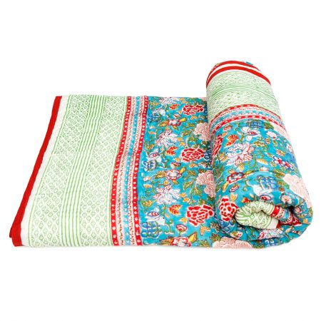 Tara-Textile - indische Decke - Kuscheldecke Nanda