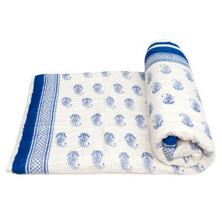 Tara-Textile - indische Decke - Kuscheldecke Sagar