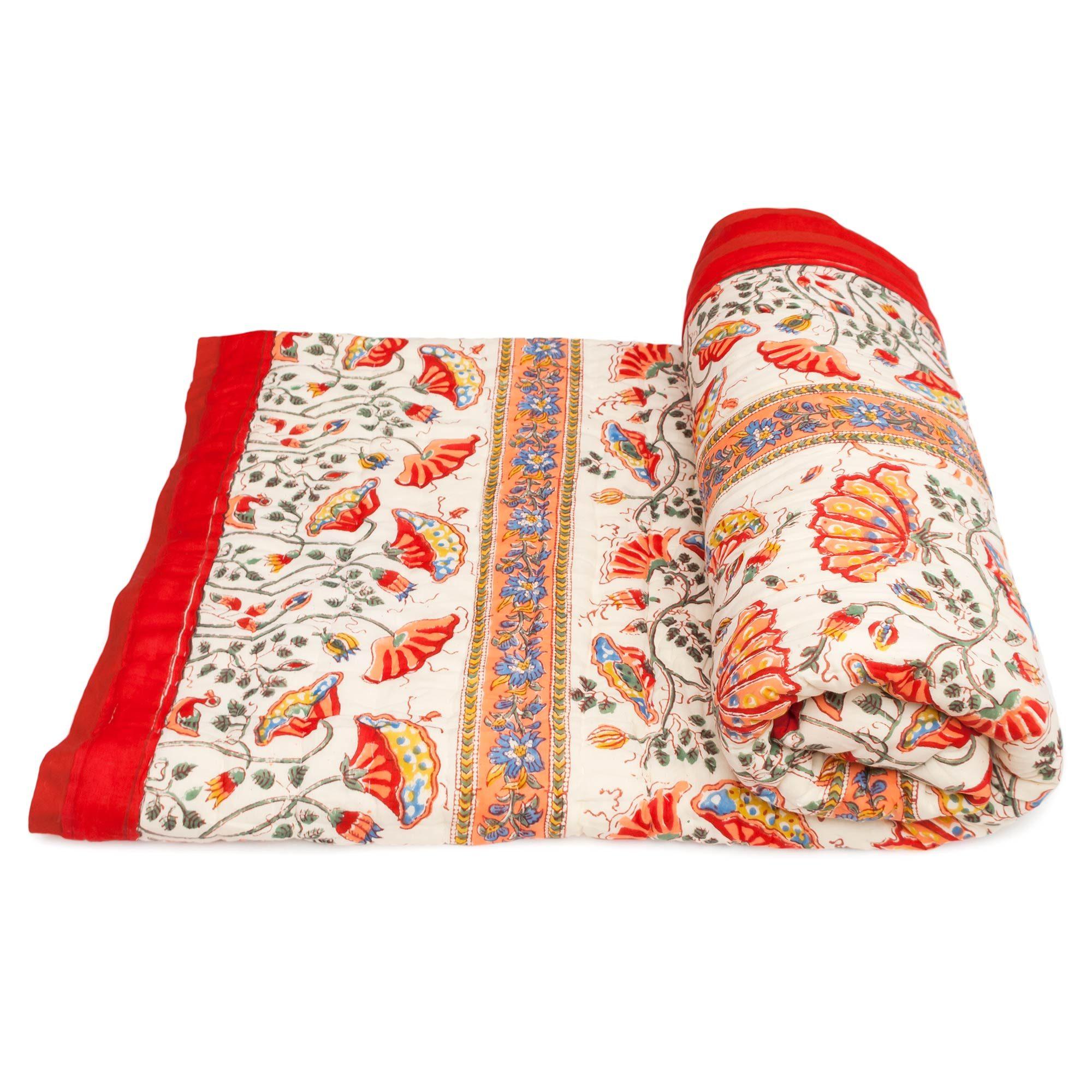 Tara-Textile - indische Decke - Kuscheldecke Kamela