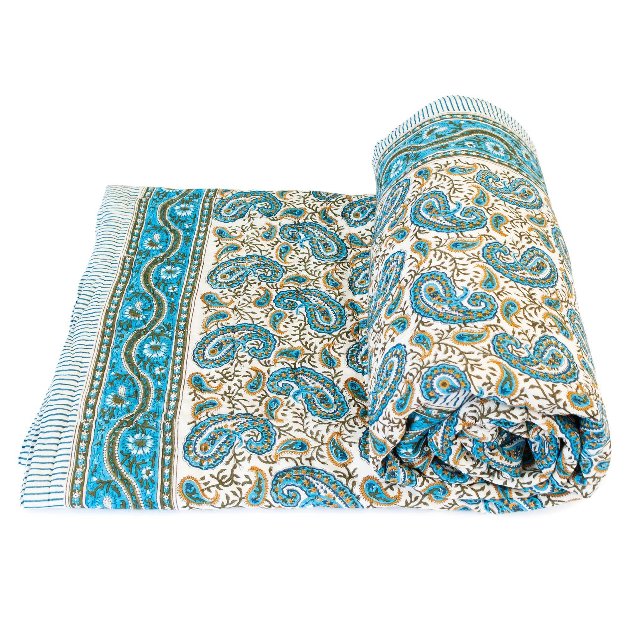 Tara-Textile - indische Decke - Leichte Decke Jamuna