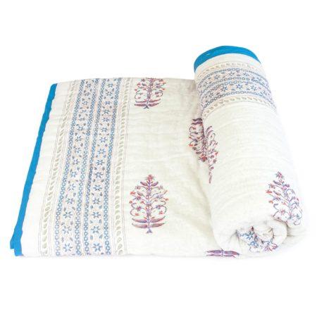 Tara-Textile - indische Decke - Kuscheldecke Sameena