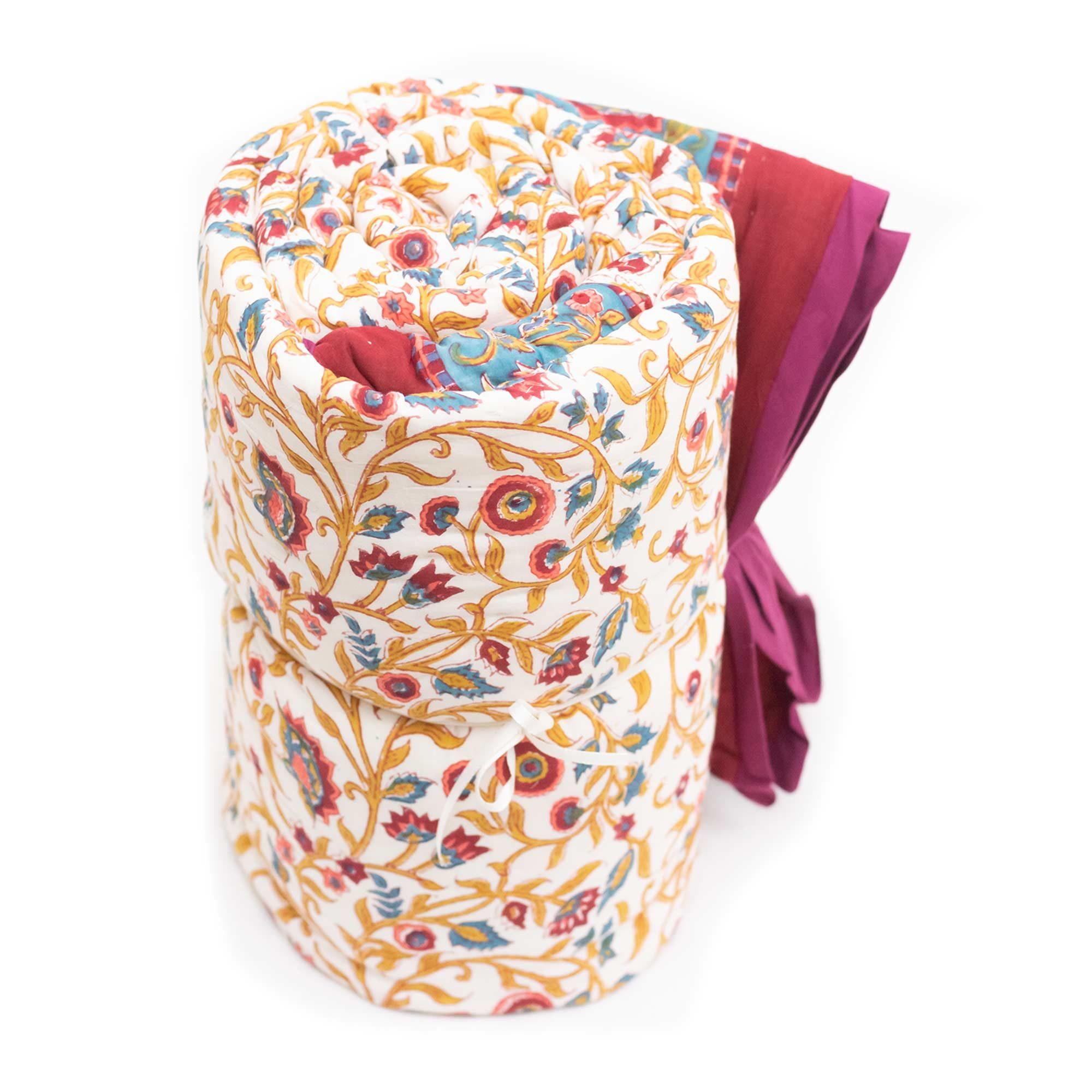 Tara-Textile - indische Decke - Kuscheldecke Mangla