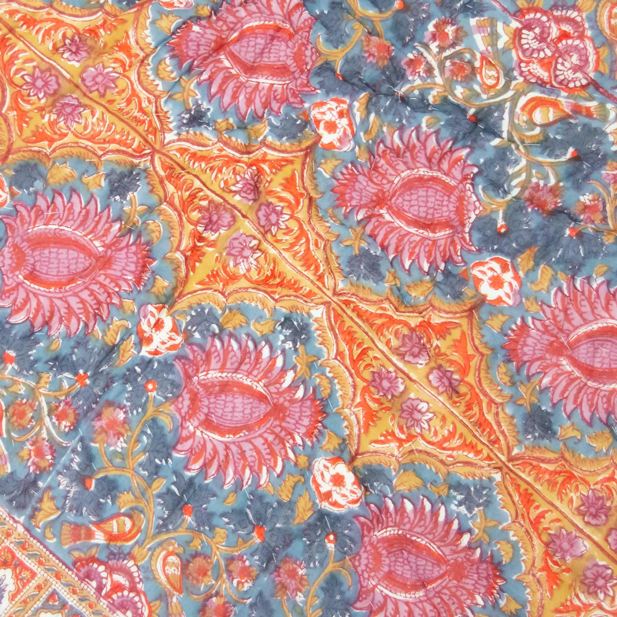 Tara-Textile - indische Decke - Kuscheldecke Aruni