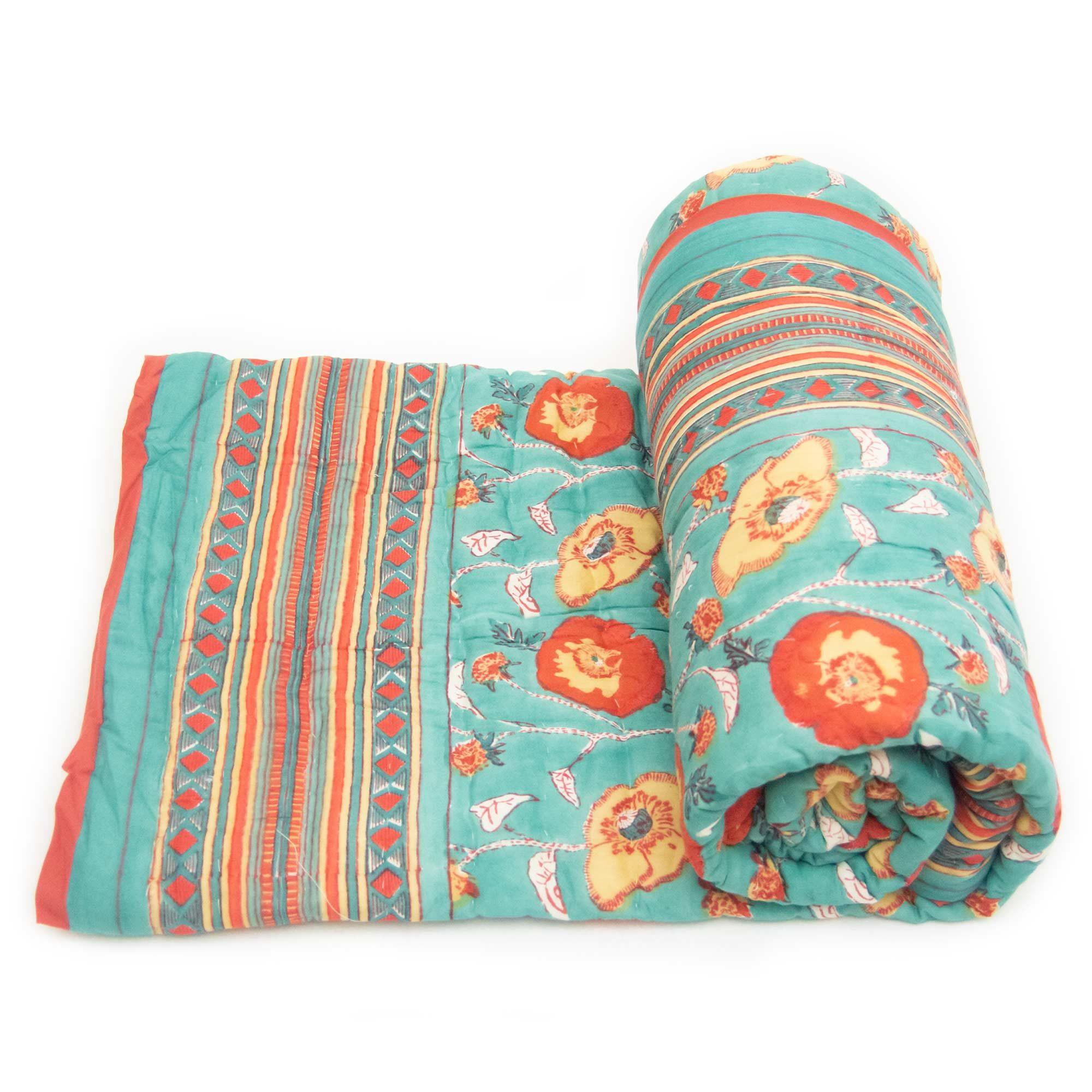 Tara-Textile - indische Decke - Kuscheldecke Isha