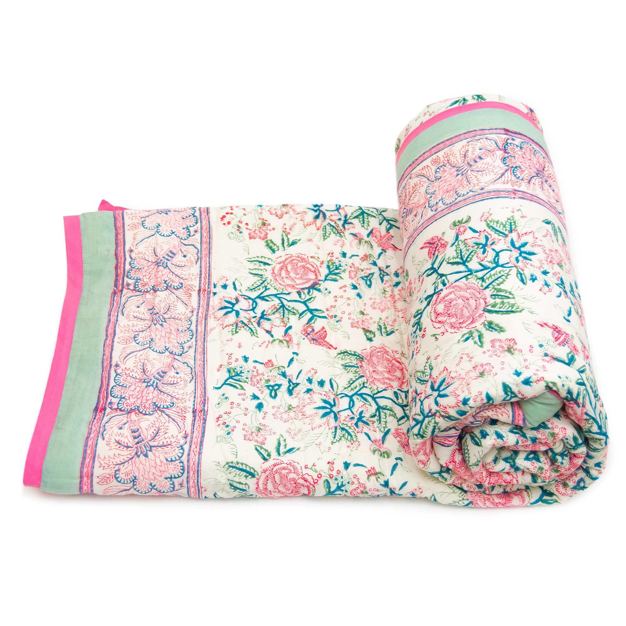 Tara-Textile - indische Decke - Kuscheldecke Jiya