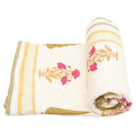Tara-Textile - indische Decke - Kuscheldecke Kesara
