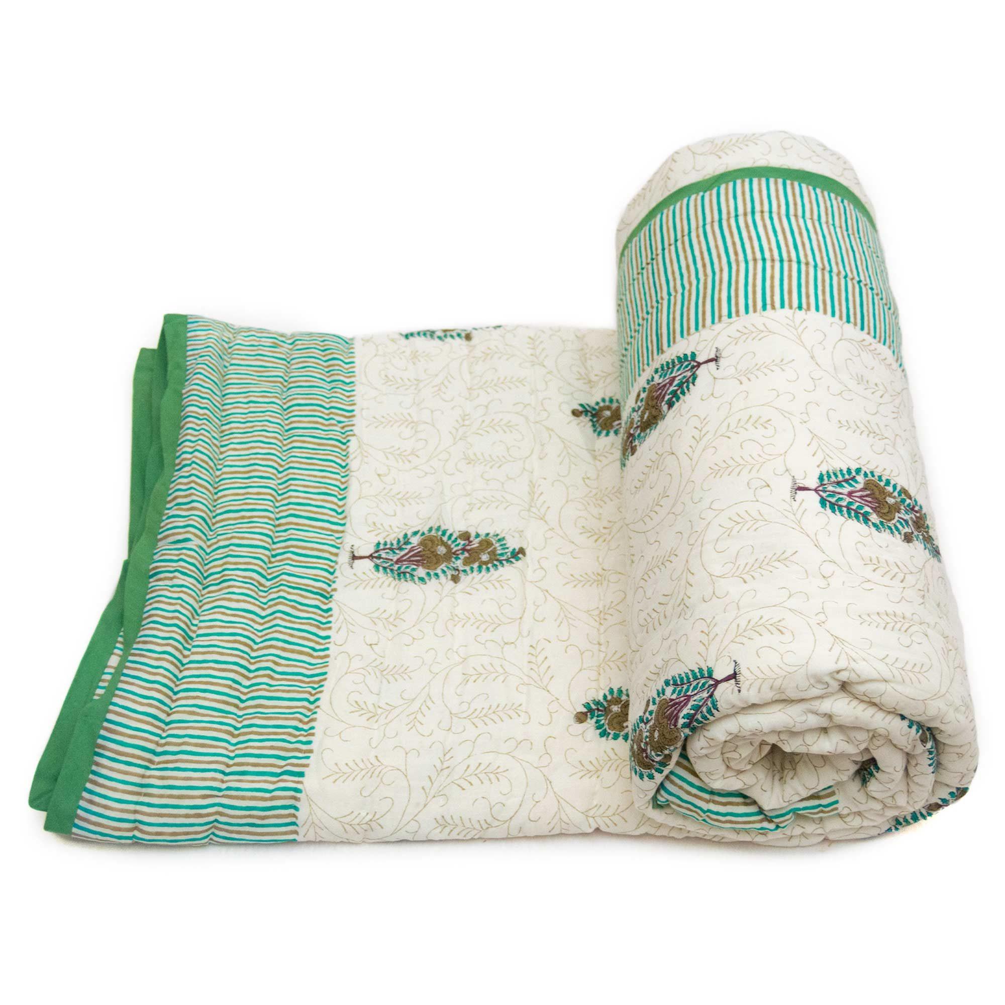 Tara-Textile - indische Decke - Kuscheldecke Tamani