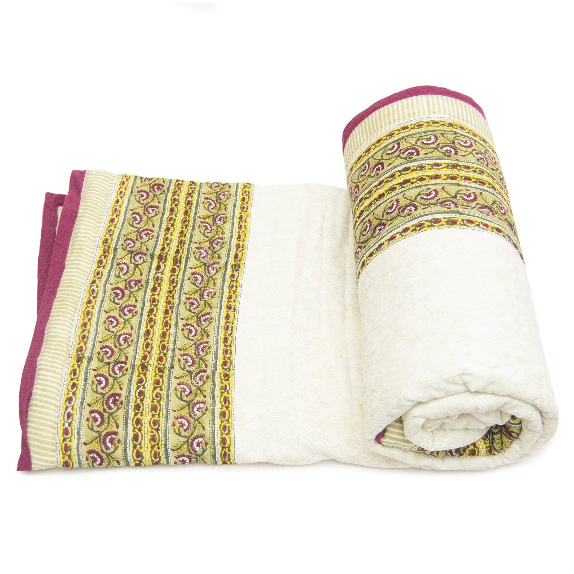 Tara-Textile - indische Decke - Kuscheldecke Kavita