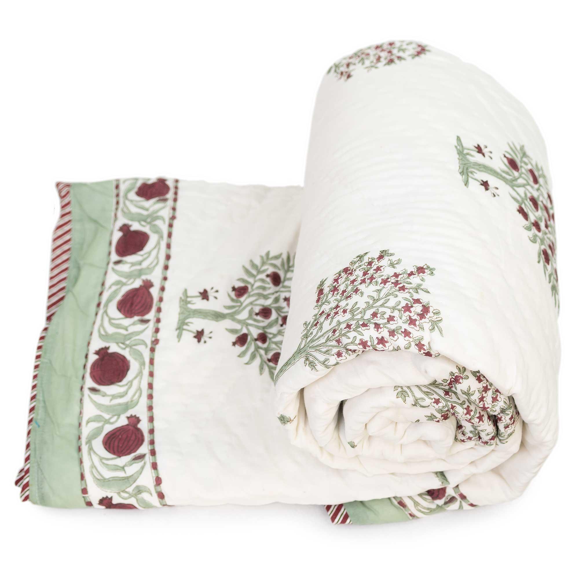 Tara-Textile Tara-Textile - indische Decke - Leichte Decke Anar- indische Decke - Leichte Decke Saira