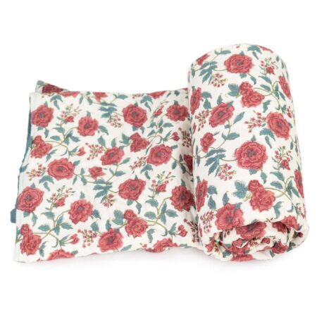 Tara-Textile - indische Decke - Leichte Decke Gulaab