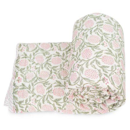 Tara-Textile - indische Decke - Kuscheldecke Sura